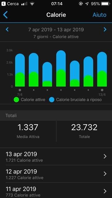 Smartwatch Sport - Misura delle calorie attive e a riposo