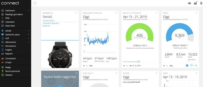 Smartwatch Sport - Garmin Connect sito online