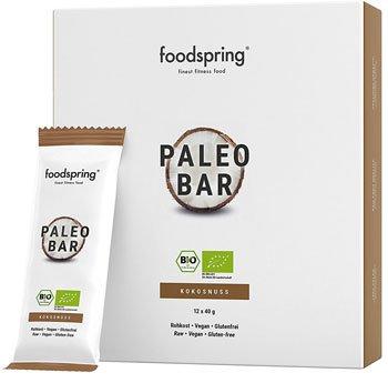 Barrette proteiche migliori - foodspring Bio Paleo Bar pacchetto da 12