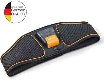 Miglior elettrostimolatore - Beurer Em 37, Elettrostimolatore Cintura per Addominali Frontali E Laterali