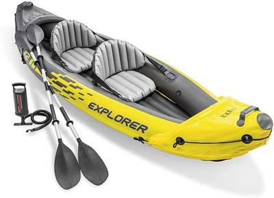 Migliore canoa gonfiabile - Intex 68307NP, Canotto Explorer K2 con Remi Alluminio