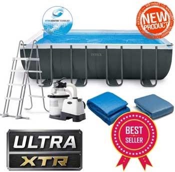 Migliori piscine fuori terra - INTEX 26356NP nuova piscina fuori terra Ultra XTR 549x279x132 cm + Pompa a sabbia