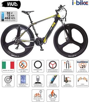 Bici elettrica migliore - I-Bike Mountain Mud Unisex Adulto