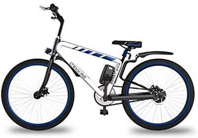 Bici elettrica migliore - Itekk Smart, E-Bike Unisex – Adulto, Blu, M