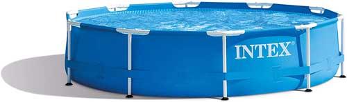 Migliori piscine fuori terra - Intex 28200 Piscina Frame, 4485 Litri, Blu, 305 x 76 cm