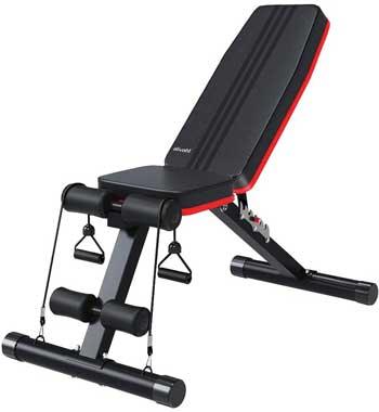 Panca palestra migliore - Ativafit, panca per pesi regolabile per allenamento completo del corpo