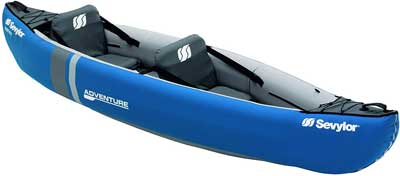 Migliore canoa gonfiabile - Sevylor Adventure Kit Kayak Mare Gonfiabile, 2 Posti, 314 x 88 cm